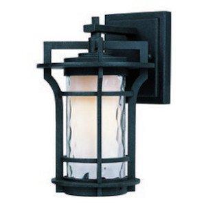 Maxim Lighting Oakville LED 1-Light Outdoor Wall Lantern in Black Oxide