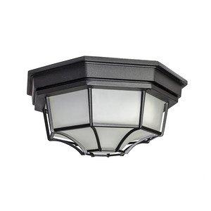 Maxim Lighting Flush Mount LED 1-Light Outdoor Ceiling Mount in Black