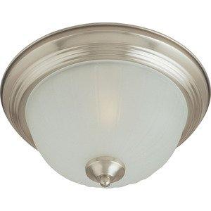 Maxim Lighting Essentials 2-Light Flush Mount in Satin Nickel