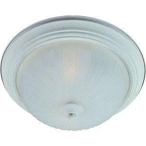 Maxim Lighting Essentials 3-Light Flush Mount in Textured White