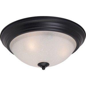 Maxim Lighting Essentials 2-Light Flush Mount in Black