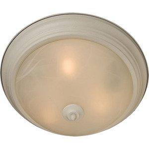 Maxim Lighting Essentials 2-Light Flush Mount in Textured White