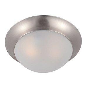 Maxim Lighting Essentials 1-Light Flush Mount in Satin Nickel
