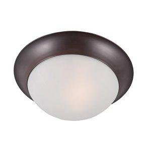 Maxim Lighting Essentials 2-Light Flush Mount in Oil Rubbed Bronze