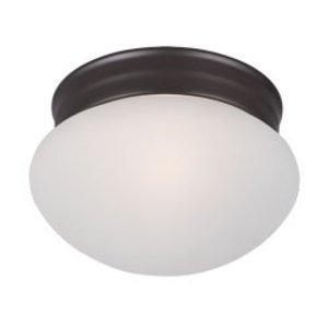 Maxim Lighting Essentials 1-Light Flush Mount in Oil Rubbed Bronze