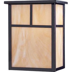 Maxim Lighting Energy Efficient Double Outdoor Wall Lantern in Burnished with Honey Glass