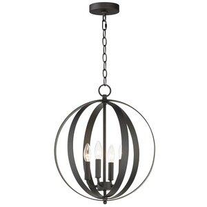 Maxim Lighting 4-Light Chandelier in Black