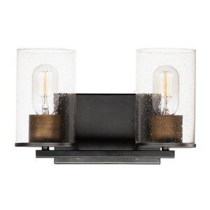 Maxim Lighting 2-Light Bath Vanity in Black