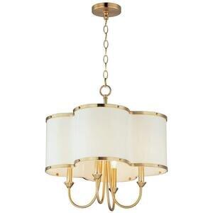 Maxim Lighting 4-Light Chandelier in Satin Brass