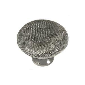 "MNG Hardware 1 1/2"" Thumbprint Knob in Polished Nickel"