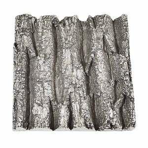 Modern Objects Bark Tile Coarse Grain in Polished Pewter