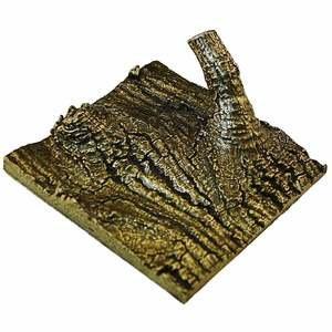Modern Objects Tree Hook Tile Small in Antique Brass