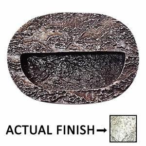 Modern Objects Bark Flush Mount Bin Pull in Polished Pewter