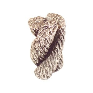 Modern Objects Rope Knot Knob in Antique Pewter