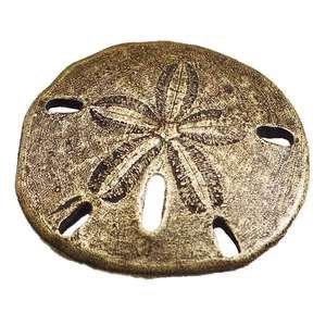 Modern Objects Sand Dollar Knob in Antique Brass