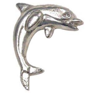 Novelty Hardware Dolphin #2 Knob in Antique Brass