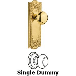 Nostalgic Warehouse - Single Dummy Knob - Meadows Plate with New York Knob in Unlacquered Brass