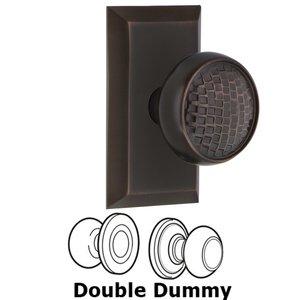 Nostalgic Warehouse - Double Dummy Set - Studio Plate with Craftsman Door Knob in Timeless Bronze
