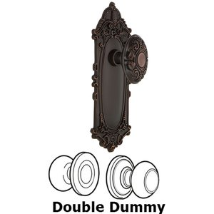 Nostalgic Warehouse - Double Dummy Set - Victorian Plate with Victorian Door Knob in Timeless Bronze