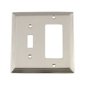 Nostalgic Warehouse - Deco - Toggle/Rocker Switchplate in Satin Nickel