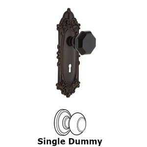 Nostalgic Warehouse - Single Dummy - Victorian Plate with Keyhole Waldorf Black Door Knob in Timeless Bronze