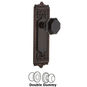 Nostalgic Warehouse Nostalgic Warehouse - Double Dummy - Egg & Dart Plate Waldorf Black Door Knob in Timeless Bronze