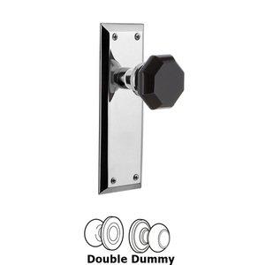 Nostalgic Warehouse Nostalgic Warehouse - Double Dummy - New York Plate Waldorf Black Door Knob in Bright Chrome