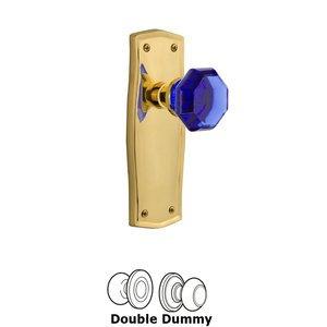 Nostalgic Warehouse Nostalgic Warehouse - Double Dummy - Prairie Plate Waldorf Cobalt Door Knob in Polished Brass