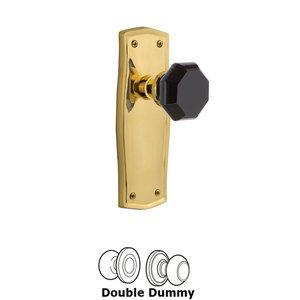 Nostalgic Warehouse Nostalgic Warehouse - Double Dummy - Prairie Plate Waldorf Black Door Knob in Polished Brass