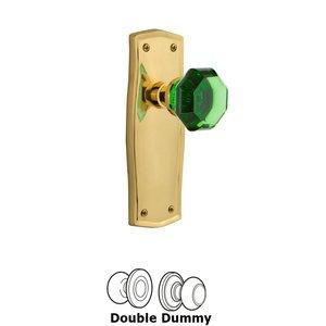 Nostalgic Warehouse Nostalgic Warehouse - Double Dummy - Prairie Plate Waldorf Emerald Door Knob in Unlaquered Brass