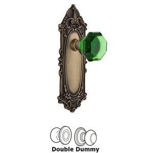 Nostalgic Warehouse Nostalgic Warehouse - Double Dummy - Victorian Plate Waldorf Emerald Door Knob in Antique Brass