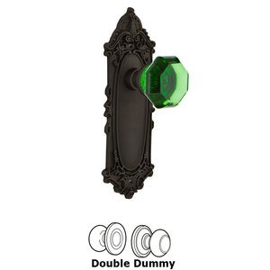 Nostalgic Warehouse Nostalgic Warehouse - Double Dummy - Victorian Plate Waldorf Emerald Door Knob in Oil-Rubbed Bronze
