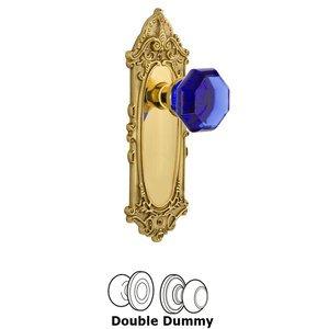 Nostalgic Warehouse Nostalgic Warehouse - Double Dummy - Victorian Plate Waldorf Cobalt Door Knob in Polished Brass