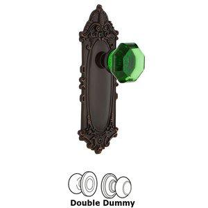 Nostalgic Warehouse Nostalgic Warehouse - Double Dummy - Victorian Plate Waldorf Emerald Door Knob in Timeless Bronze