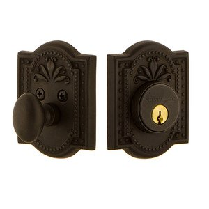 Nostalgic Warehouse Single Cylinder Deadbolt in Oil Rubbed Bronze