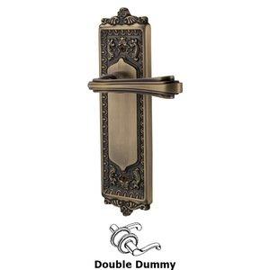 Nostalgic Warehouse Egg & Dart Plate Double Dummy Fleur Lever in Antique Brass