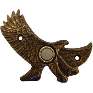 Novelty Hardware Eagle in Fligh Door Bell in Antique Brass