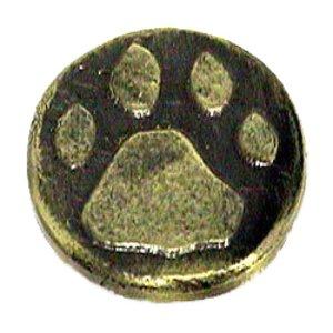Novelty Hardware Stone Wolf Track Knob in Antique Brass