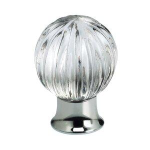 Omnia Industries 30mm Clear Glass Globe Knob with Polished Chrome Base