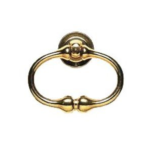 Omnia Industries Crescent Ring Pull Polished Brass Lacquered