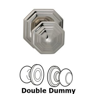 Omnia Industries Double Dummy Traditions Octagon Knob with Octagon Rosette in Polished Nickel Lacquered