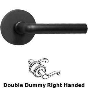 Omnia Industries Double Dummy Soho Right Handed Lever with Plain Rosette in Oil Rubbed Bronze Lacquered