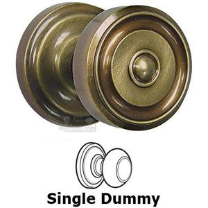 Omnia Industries Single Dummy Classic Ridge Knob with Radial Rosette in Shaded Bronze