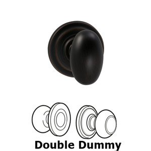 Omnia Industries Double Dummy Egg Knob with Traditional Rose in Tuscan Bronze