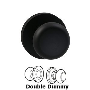 Prodigy by Omnia - Double Dummy Colonial Knob with Modern Rose in Oil Rubbed Bronze