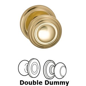 Omnia Industries Double Dummy Traditions Knob with Radial Rosette in Polished Brass Lacquered