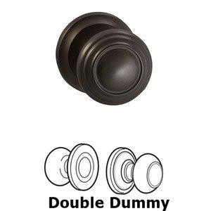 Omnia Industries Double Dummy Traditions Knob with Radial Rosette in Antique Bronze Unlacquered