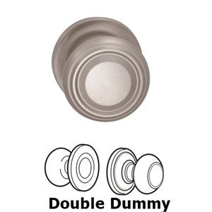 Omnia Industries Double Dummy Traditional Knob with Traditional Rose in Satin Nickel Lacquered