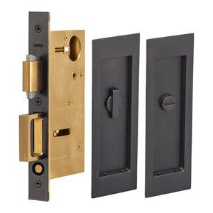 Pocket Door Hardware Large Modern Rectangle Privacy