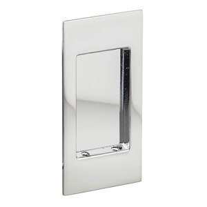 Omnia Industries Small Modern Rectangle Flush Pull in Polished Chrome